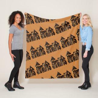 Giraffes And Giraffes Picture Logo, Brown Med Fleece Blanket