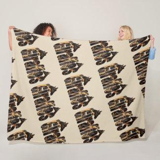 Giraffes And Giraffes Picture Logo, Large Fleece Blanket