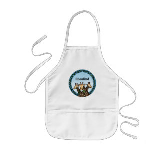 Giraffes and Laurel, Add Your Name Kids Apron
