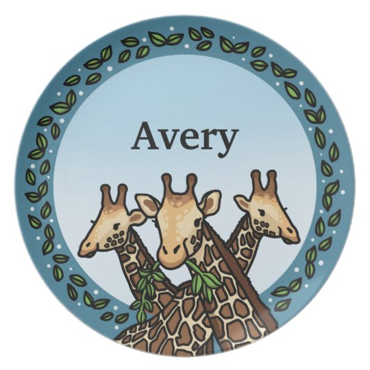 Giraffes and Laurel, Add Your Name Plate