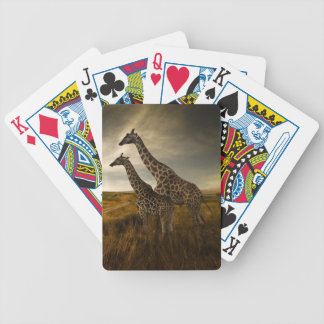Giraffes and The Landscape Bicycle Playing Cards