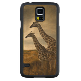 Giraffes and The Landscape Carved Maple Galaxy S5 Case