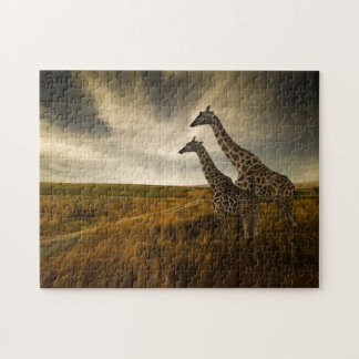 Giraffes and The Landscape Jigsaw Puzzle
