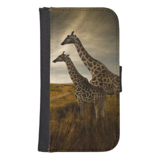 Giraffes and The Landscape Samsung S4 Wallet Case