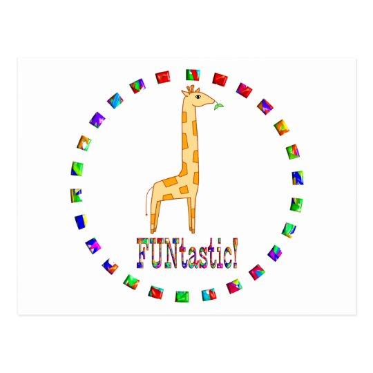 Giraffes are Funtastic Postcard