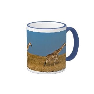 Giraffes at Etosha NP Ringer Mug