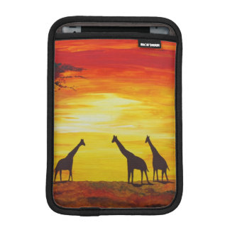 Giraffes at Sunset (Kimberly Turnbull Art) iPad Mini Sleeve