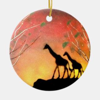 Giraffes Christmas Ornament