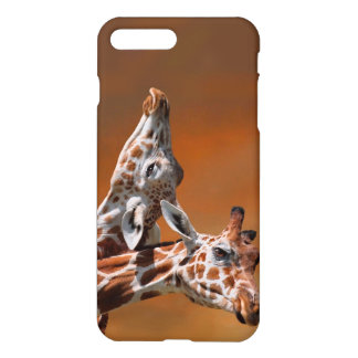 Giraffes couple in love iPhone 7 plus case