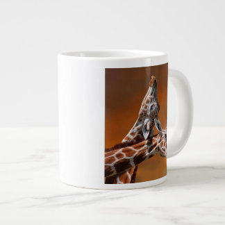Giraffes couple in love jumbo mug