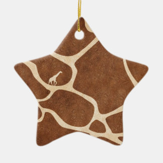 Giraffes! exotic animal print design! christmas ornament
