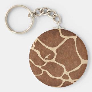 Giraffes! exotic animal print design! key chain