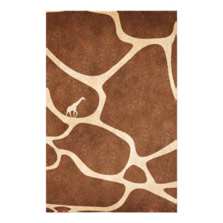 Giraffes! exotic animal print design! personalised stationery