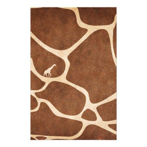 Giraffes! exotic animal print design! customized stationery