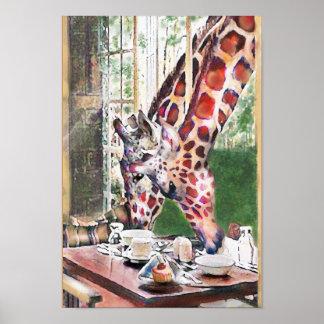 giraffes for tea poster