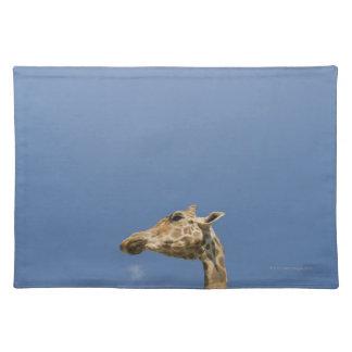 Giraffe's head place mat