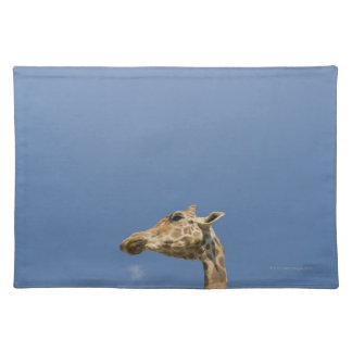 Giraffe's head placemat
