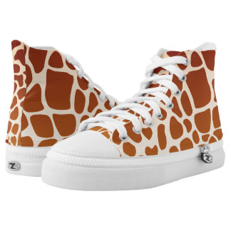 Giraffes High Top Shoes Printed Shoes