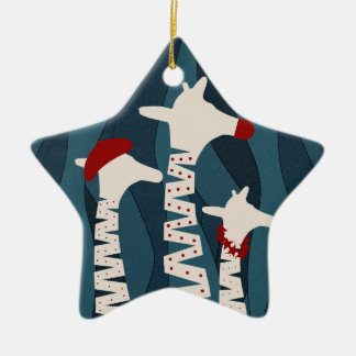 Giraffes Holiday Season Design Christmas Ornament