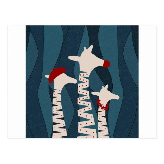 Giraffes Holiday Season Design Postcard