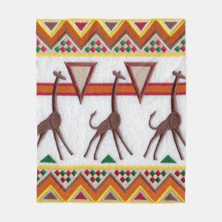 Giraffes in Africa Blanket