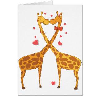 Giraffes in Love Greeting Card