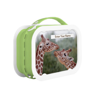 Giraffes in Love Lunchbox (Enter Your Name)