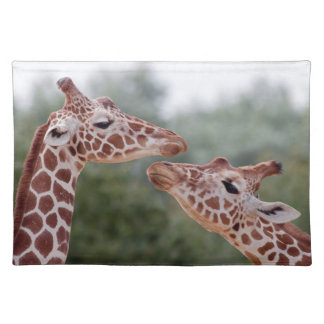 Giraffes in Love Placemat