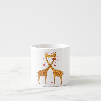 Giraffes in Love Espresso Mugs