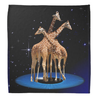 GIRAFFES IN SPACE BANDANA