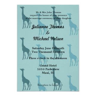 "Giraffes 5"" X 7"" Invitation Card"
