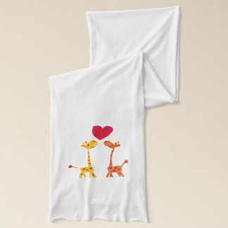 Giraffes Love Art Scarf