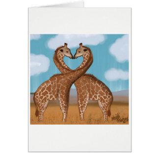 Giraffes Love Cards
