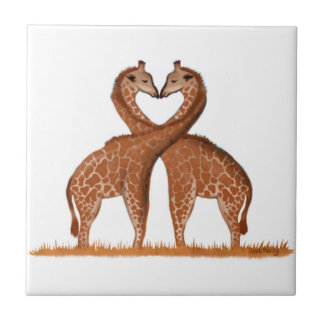 Giraffes Love Heart Tiles