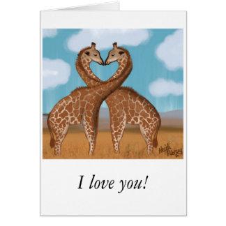 Giraffes Love Valentines Cards