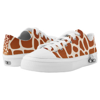Giraffes Low Top Shoes Printed Shoes