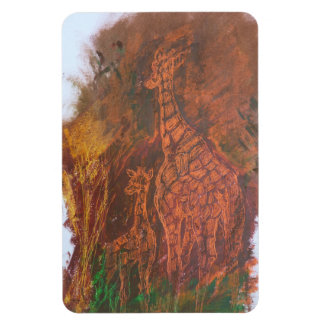 Giraffes. Magnet