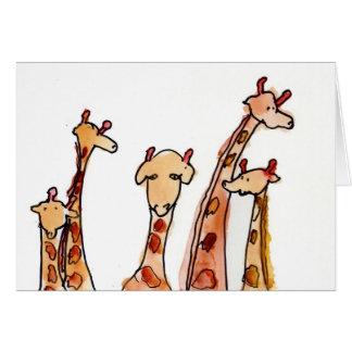 Giraffes • Max Hutcheson, Age 11 Card