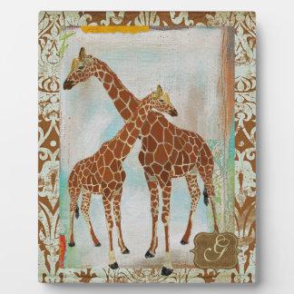 Giraffes Monogram Plaque