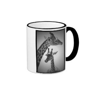 giraffes mother and child mug