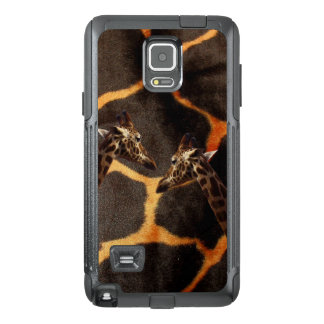Giraffes On Exotic Giraffe Background, OtterBox Samsung Note 4 Case