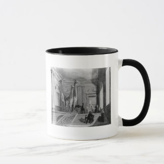 Giraffes on the staircase in the British Mug