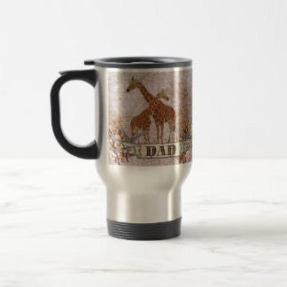 Giraffes Orange Blossom Dad  Travel Mug