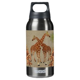 Giraffes Orange Blossom Liberty Bottle 10 Oz Insulated SIGG Thermos Water Bottle