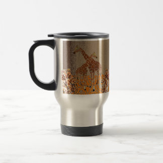 Giraffes Orange Blossom  Travel Mug