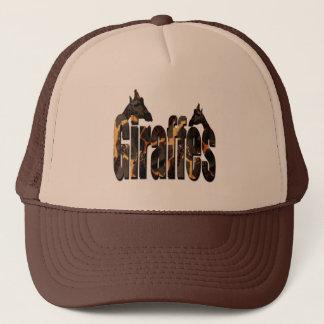 Giraffes Patter Logo With Giraffes, Trucker Hat