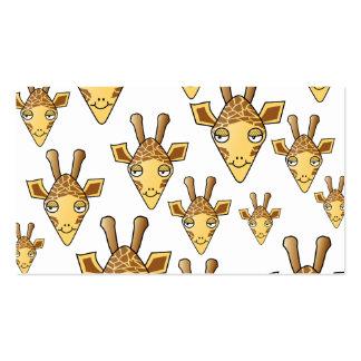 Giraffes Pattern Business Card Template
