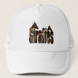 Giraffes Pattern Logo With Giraffes, Trucker Hat