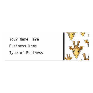 Giraffes Pattern. Pack Of Skinny Business Cards