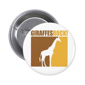 Giraffes Rock! #2 6 Cm Round Badge